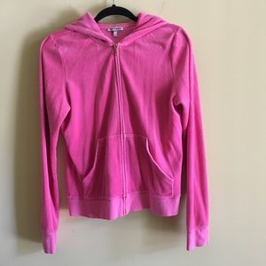Juicy Couture velvet zip up hoodie