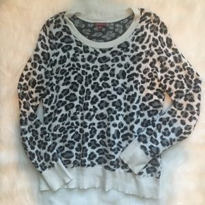 Snow Leopard Print Sweater