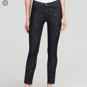 Current/Elliott Star Pattern Stiletto Skinny Jeans