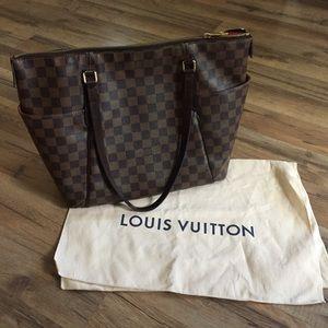 AUTHENTIC Louis Vuitton Totally MM Damier Ebene