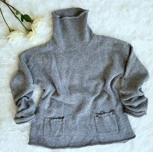 DKNY Gray Knit Turleneck Long Sleeve Sweater