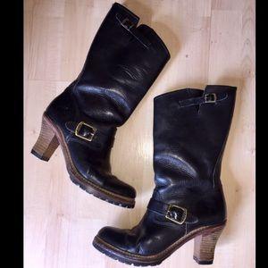 Frye Mildred Engineer Leather Heel Boots