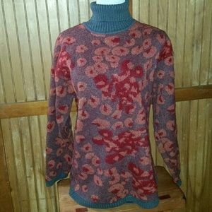 INCREDIBLE 80s Poppy Sweater - One of a Kind