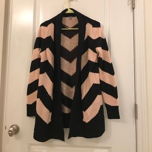 Pink and Black Striped Sweater