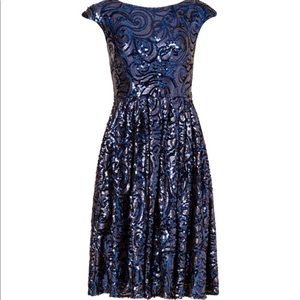 Badgley Mischka Sequence Party Dress