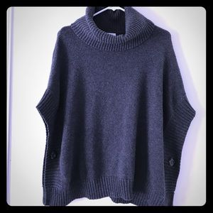 Old Navy Poncho turtle neck sweater