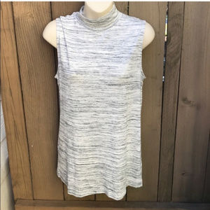 Cato space dye grey turtleneck tank top size M