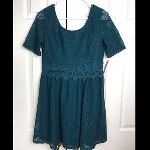 Teal lace Party dress