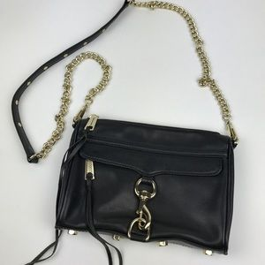 [Rebecca Minkoff] Mini Mac Black Leather Crossbody