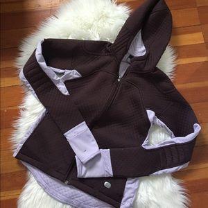 purple nike sphere thermal jacket size M
