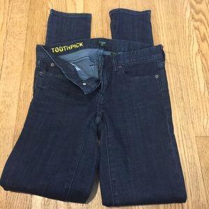 NEVER WORN J.Crew Toothpick Skinny Jeans
