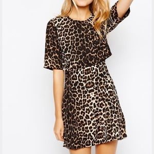 Asos Leopard Cutout Dress