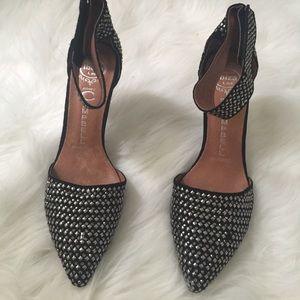 Silver stud heels