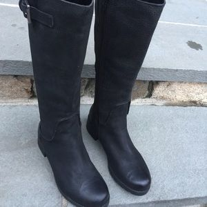 Rockport Black Leather Boots 7