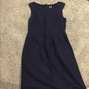 J crew blue lace dress