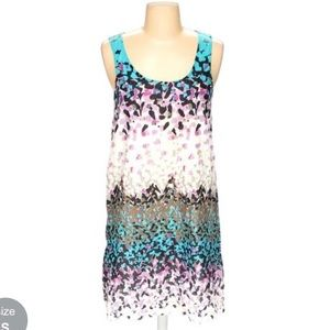 Abstract print colorful Kensie dress - sz S