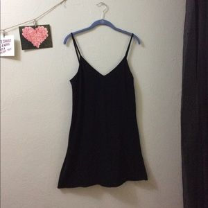 American Apparel black slip dress