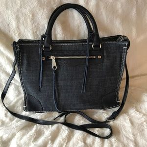 Rebecca Minkoff Regan Satchel Denim Handbag Purse