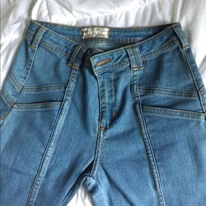 Free People boho flare vintage 70s style jeans
