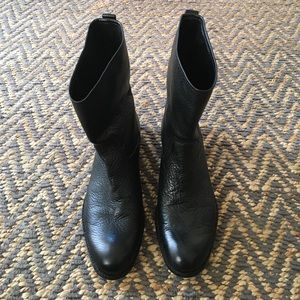 Black leather Coach Boots