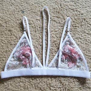 Intimates & Sleepwear - Rose Bralette in White