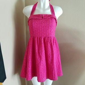 Dresses & Skirts - Pink and Orange Halter Dress