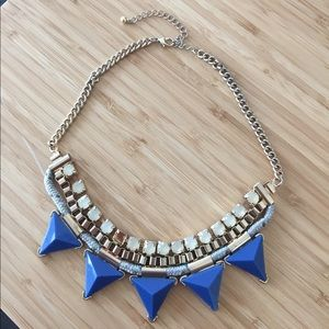 H&M Blue pattern short necklace