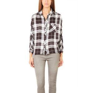 Rails Maddox Plaid Flannel Shirt Black & White