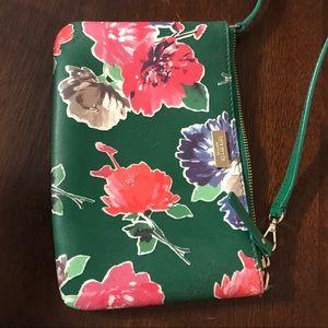 Kate Spade clutch!! Green floral print