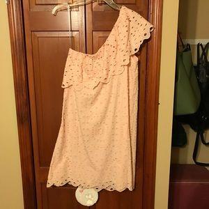 Loft one shoulder ruffle dress