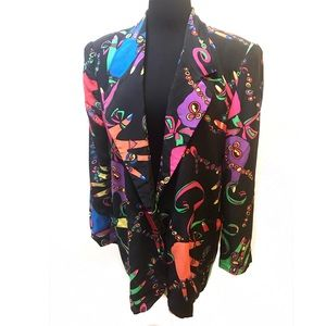 Magical 80's print blazer jacket