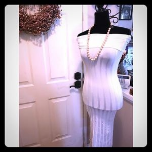 Gorgeous Cream Color BodyCon Dress By Guess