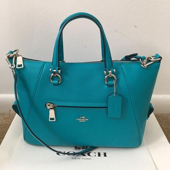 9d674174f8f Coach Bags   Pebble Primrose Satchel Turquoise   Poshmark