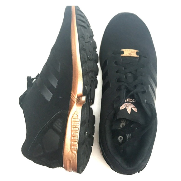 new concept 45548 63aff Adidas ZX Flux black copper/rose gold size 8