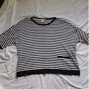 Eileen Fisher Organic Linen Striped Shirt Small