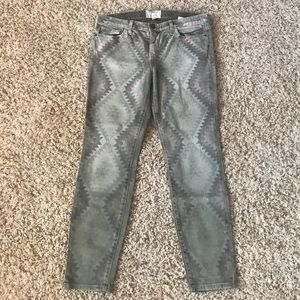 Current/Elliott Army Green Navajo Ankle Pant