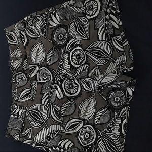 Ann Taylor LOFT riviera floral linen shorts, sz 4