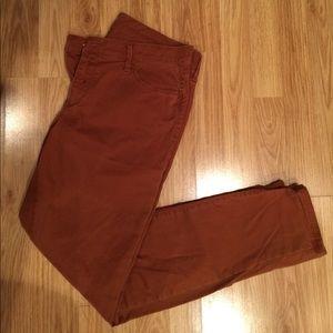 Loft burnt orange jeans. Size 10