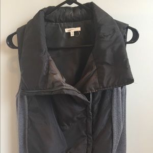 Zip vest with knit sides