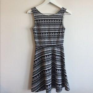 H&M Striped pattern skater dress