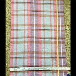 Oversized plaid scarf