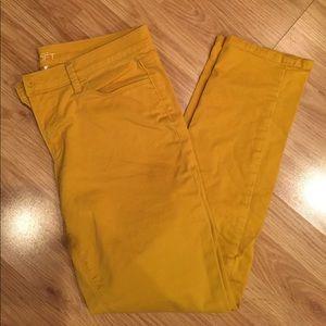 Loft gold colored jeans. Size 10
