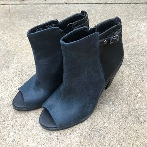 Shoes - Vera Wang peep toe booties
