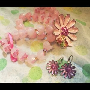 Juicy bracelet and earring set