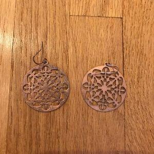 Jewelry - Copper patterned earrings