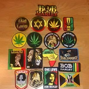 2 For 10 Bob Marley Rasta Iron On Patches