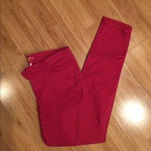 Loft fuchsia colored jeans. Size 10 tall