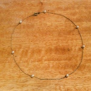 💠 Dainty delicate Vintage Pearl choker tiny small