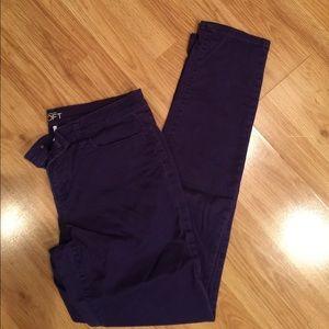 Loft purple-blue colored jeans size 10 tall