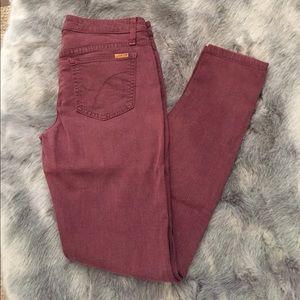 Joe's jeans oxblood color size 28.